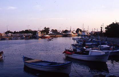 נמל הדייגים והסחורות בעיר נסבאר