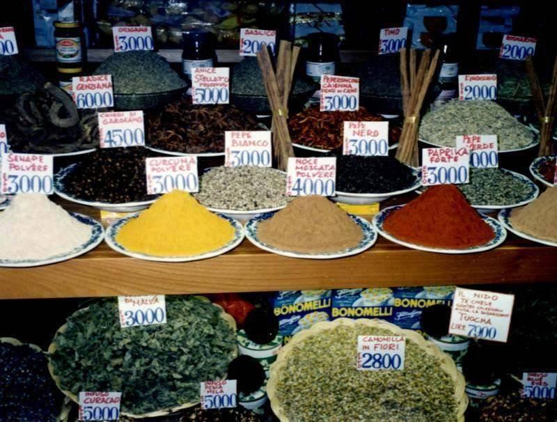 תבלינים, ריחות וטעמים בשווקים