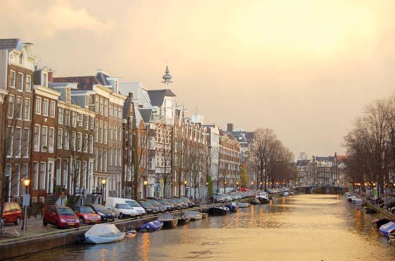 אמסטרדם בשקיעה. צילם: גיא נוימן
