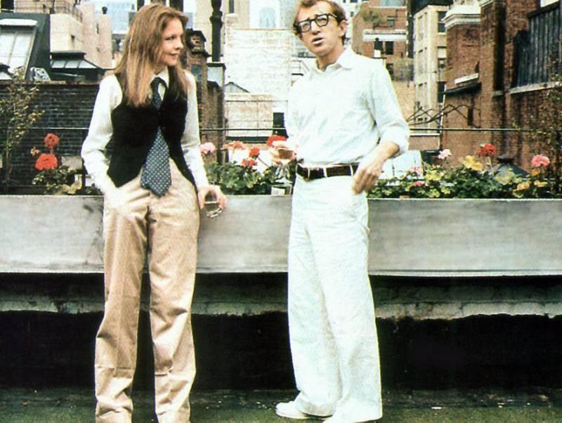 וודי אלן ודיאן קיטון מתוך הסרט הרומן שלי עם אנני.ניו יורקמזוההעם אלןורוב סרטיו מתרחשים במנהטן