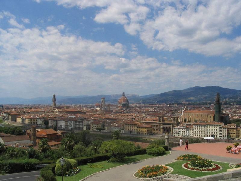 הנוף המשקיף על פירנצה שווה את מאמץ הטיפוס. צילם: גיא נוימן