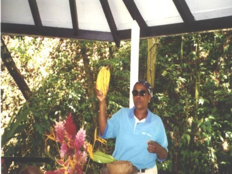 <p dir=rtl>הסברים על פירות טרופים בגני הזהב הבוטנים. צילום: סיגלית בר</p>