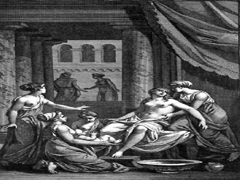 לידת הרקולס, ציור: Jean Jacques Francois Le Barbier , מאת: ויקיפדיה