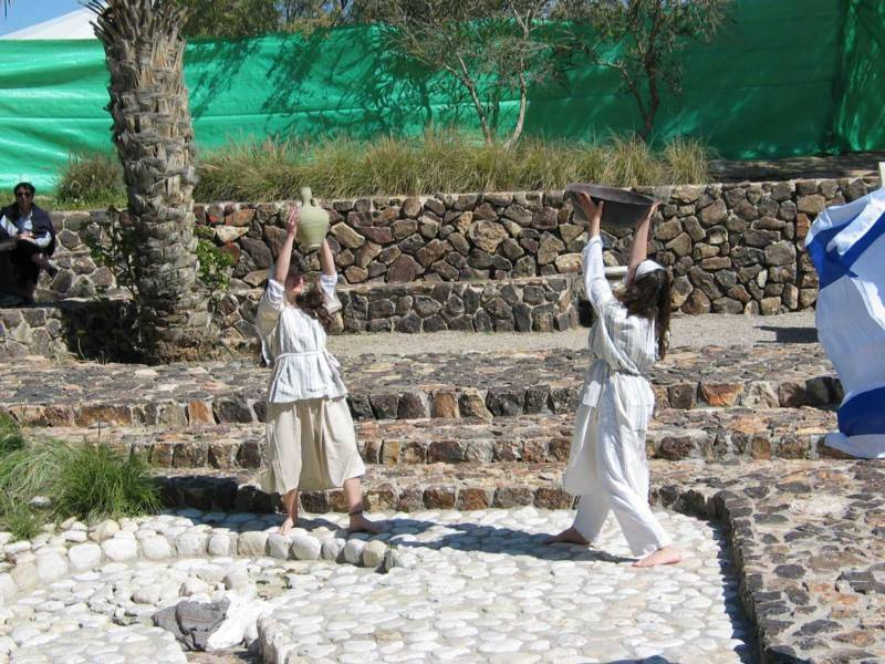 אגדות ומיתוסים במופע בתל באר שבע. צילום: רשות הטבע והגנים