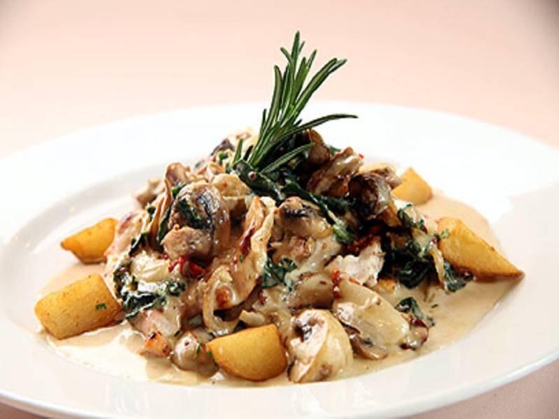 חזה עוף בנוסח איטלקי. צילום באדיבות מסעדת פרנצסקה, ראשלצ