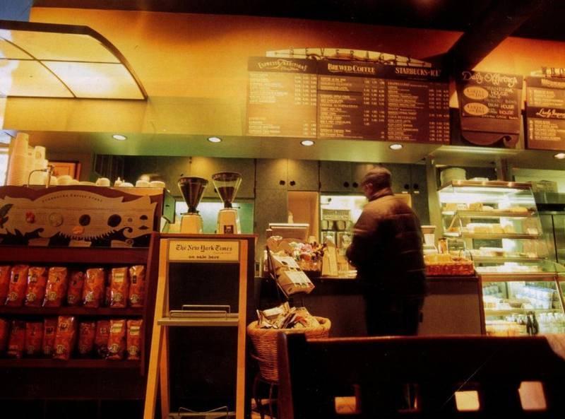 אחד מסניפי קפה סארבקס בניו-יורק