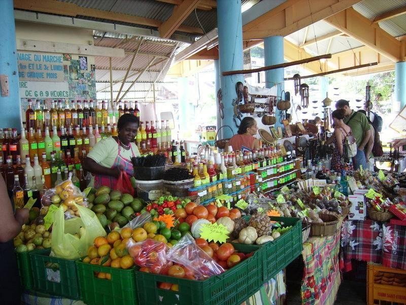 דוכן מזון באי מרטיניק