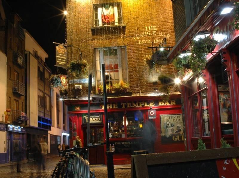אזור הטמפל בר - מרכז חיי הלילה של דבלין. צילם: גיא נוימן