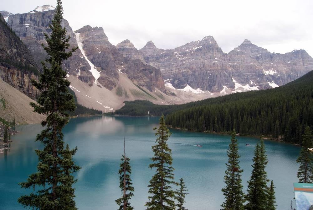 אגם לואיז ברוקיז הקנדיים, צילום: אלי הראל זקן
