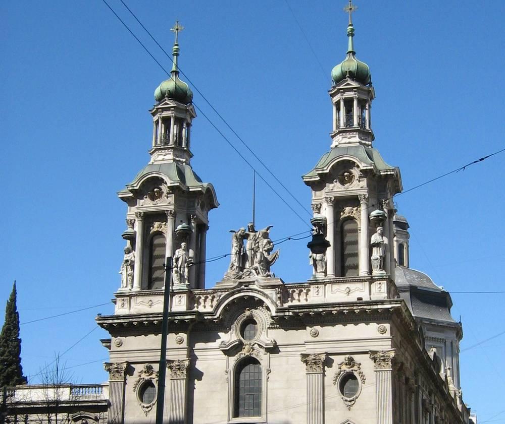 הכנסיה הפרנציסקנית בבואנוס איירס. צילום אילן שיינפלד